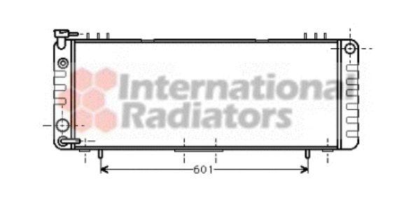 Radiateur, refroidissement du moteur - VAN WEZEL - 21002002