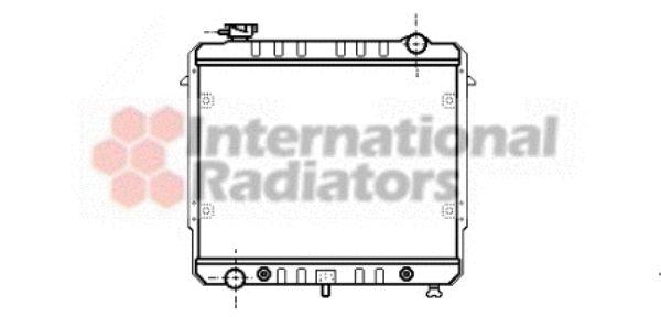 Radiateur, refroidissement du moteur - VAN WEZEL - 21002003