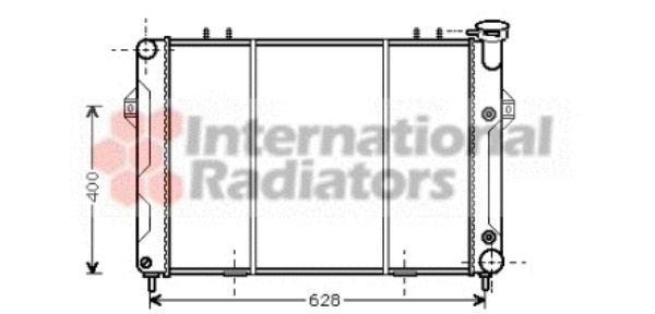 Radiateur, refroidissement du moteur - VAN WEZEL - 21002007