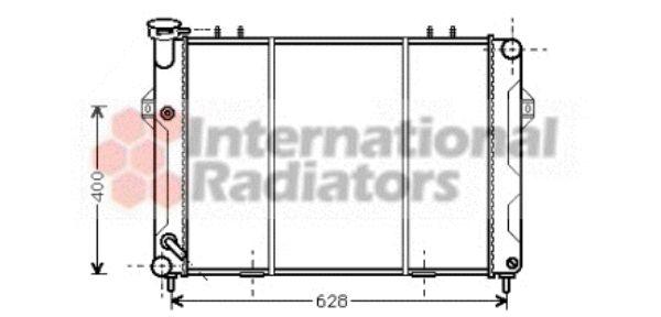 Radiateur, refroidissement du moteur - VAN WEZEL - 21002008