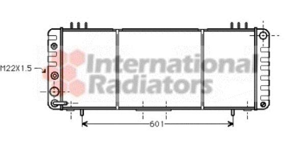 Radiateur, refroidissement du moteur - VAN WEZEL - 21002013