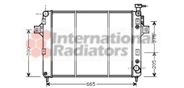 Radiateur, refroidissement du moteur - VAN WEZEL - 21002014