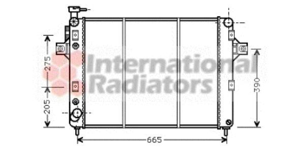 Radiateur, refroidissement du moteur - VAN WEZEL - 21002017