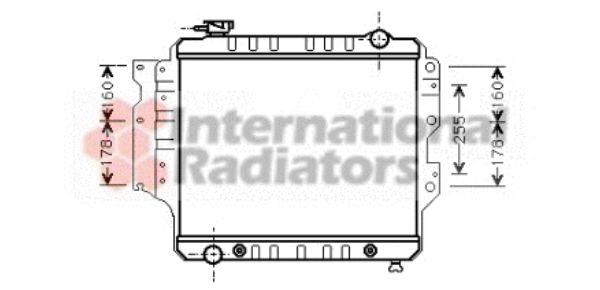 Radiateur, refroidissement du moteur - VAN WEZEL - 21002022
