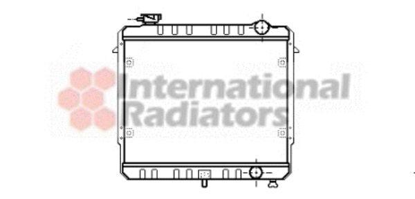 Radiateur, refroidissement du moteur - VAN WEZEL - 21002033