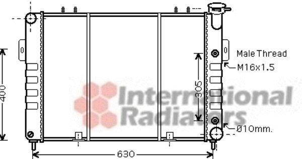 Radiateur, refroidissement du moteur - VAN WEZEL - 21002037