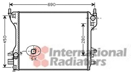 Radiateur, refroidissement du moteur - VAN WEZEL - 77002039