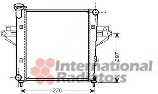 Radiateur, refroidissement du moteur - VAN WEZEL - 21002042