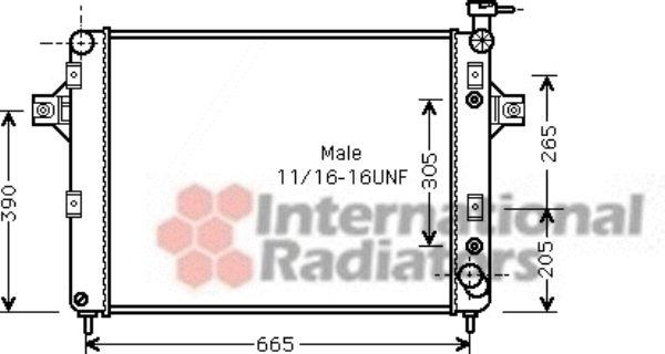Radiateur, refroidissement du moteur - VAN WEZEL - 21002044