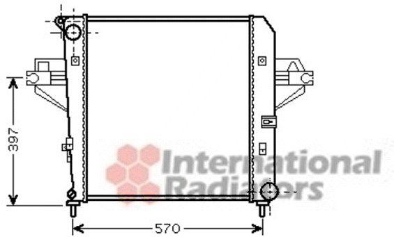 Radiateur, refroidissement du moteur - VAN WEZEL - 21002046
