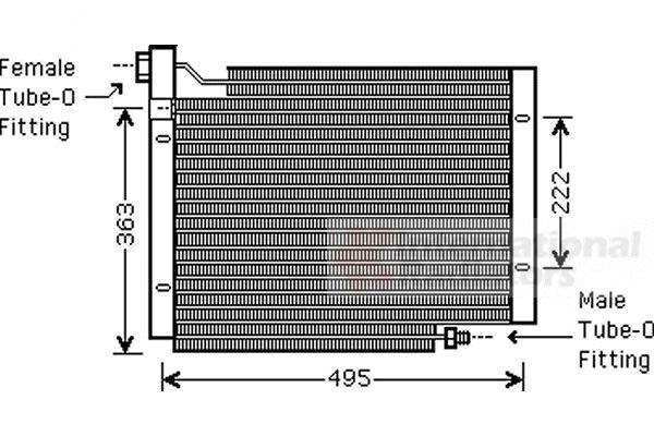 Condenseur, climatisation - VAN WEZEL - 21005004