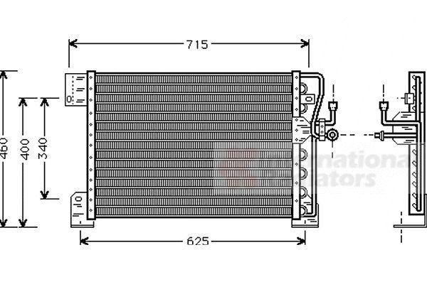 Condenseur, climatisation - VAN WEZEL - 21005005