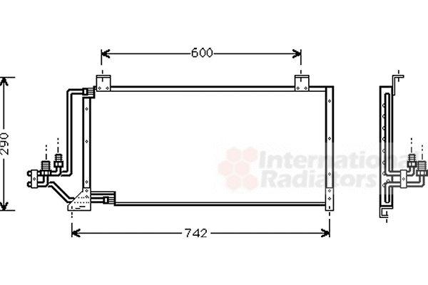 Condenseur, climatisation - VAN WEZEL - 21005006