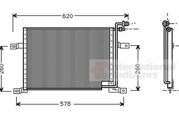 Condenseur, climatisation - VAN WEZEL - 21005010