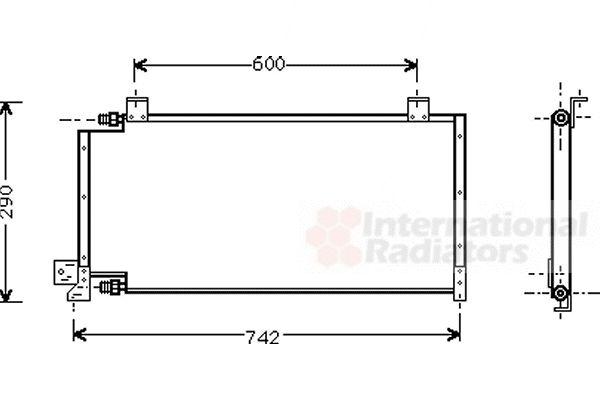 Condenseur, climatisation - VAN WEZEL - 21005011