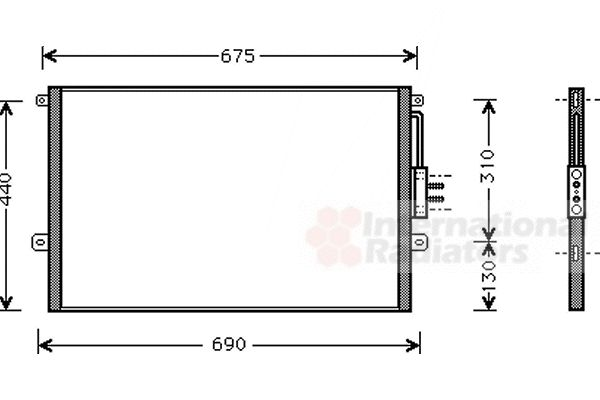 Condenseur, climatisation - VAN WEZEL - 21005018