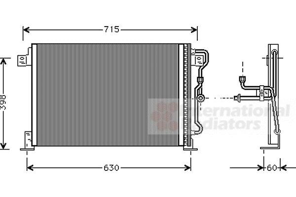 Condenseur, climatisation - VAN WEZEL - 21005019