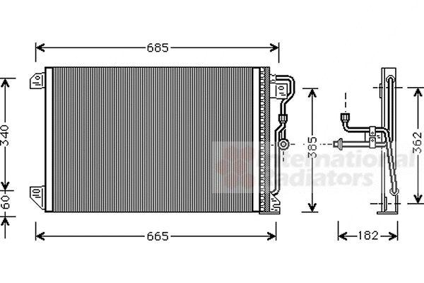 Condenseur, climatisation - VAN WEZEL - 21005020