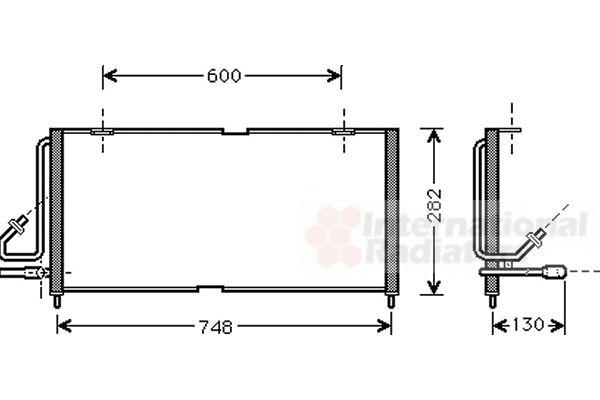 Condenseur, climatisation - VAN WEZEL - 21005027