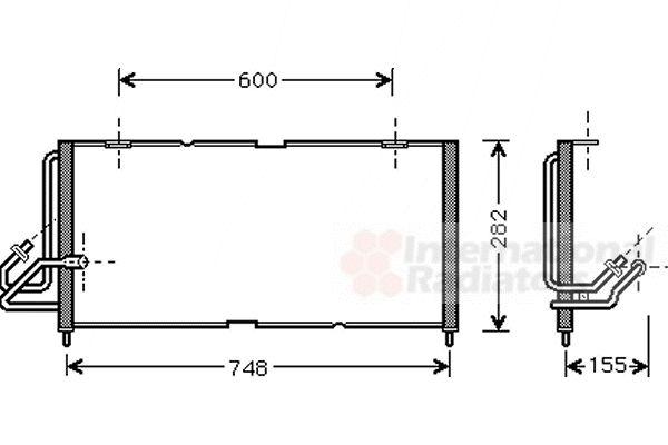 Condenseur, climatisation - VAN WEZEL - 21005028