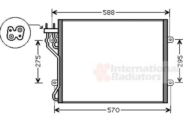 Condenseur, climatisation - VAN WEZEL - 21005035