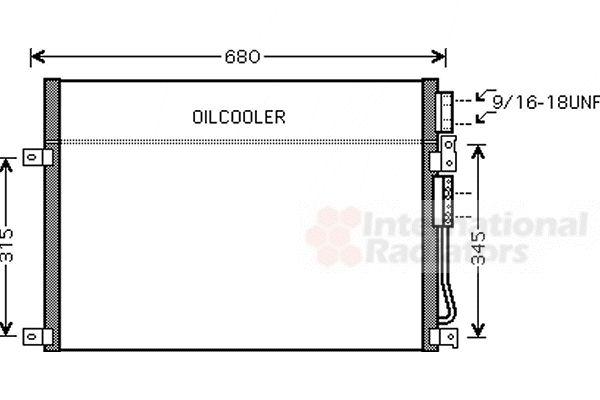 Condenseur, climatisation - VAN WEZEL - 21005045
