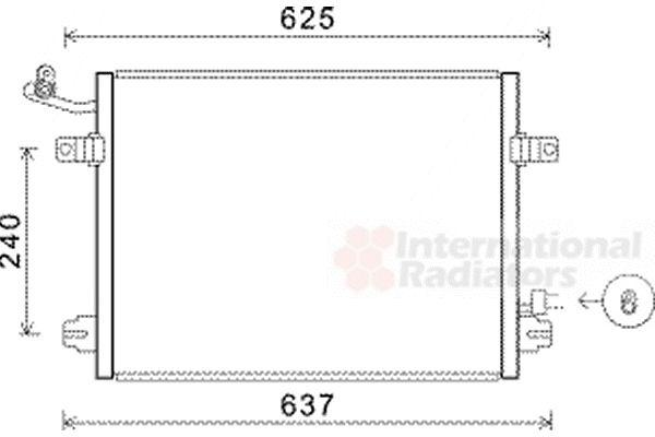 Condenseur, climatisation - VAN WEZEL - 21005048