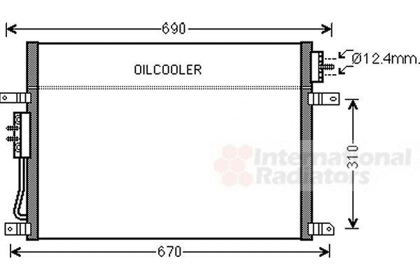 Condenseur, climatisation - VAN WEZEL - 21005050
