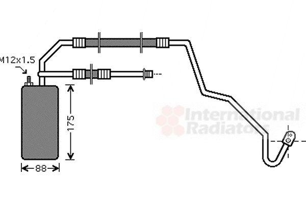 Filtre déshydratant, climatisation - VAN WEZEL - 2100D041