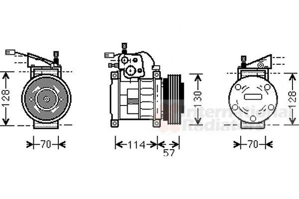 Compresseur, climatisation - VAN WEZEL - 2100K034