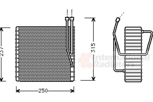 Evaporateur climatisation - VAN WEZEL - 2100V009