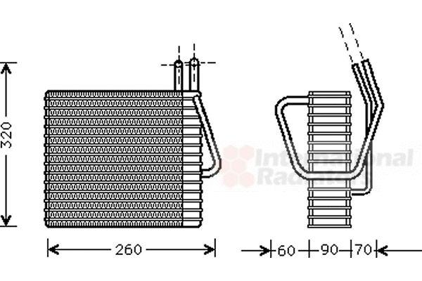 Evaporateur climatisation - VAN WEZEL - 2100V025