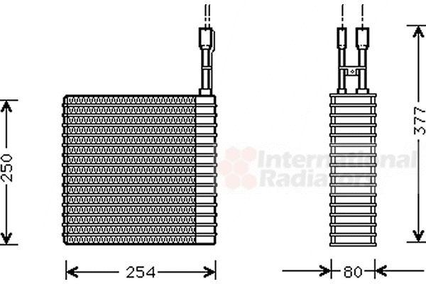 Evaporateur climatisation - VAN WEZEL - 2100V031