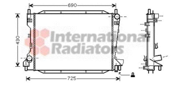 Radiateur, refroidissement du moteur - VAN WEZEL - 77002035