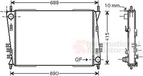 Radiateur, refroidissement du moteur - VAN WEZEL - 77002037