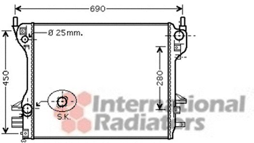 Radiateur, refroidissement du moteur - VAN WEZEL - 77002040