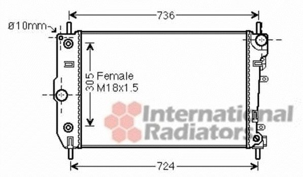 Radiateur, refroidissement du moteur - VAN WEZEL - 77002047