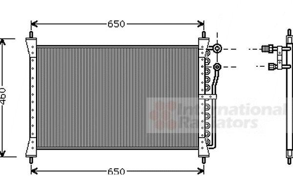 Condenseur, climatisation - VAN WEZEL - 77005012