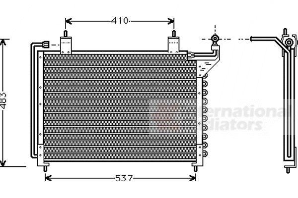 Condenseur, climatisation - VAN WEZEL - 77005013