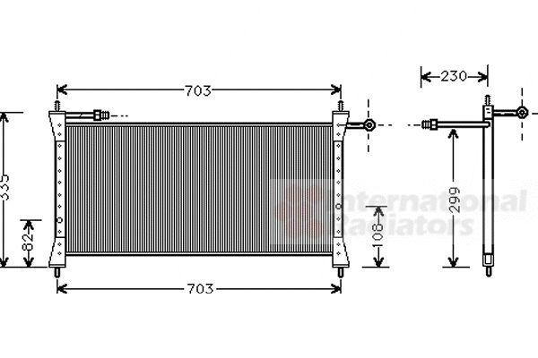 Condenseur, climatisation - VAN WEZEL - 77005014