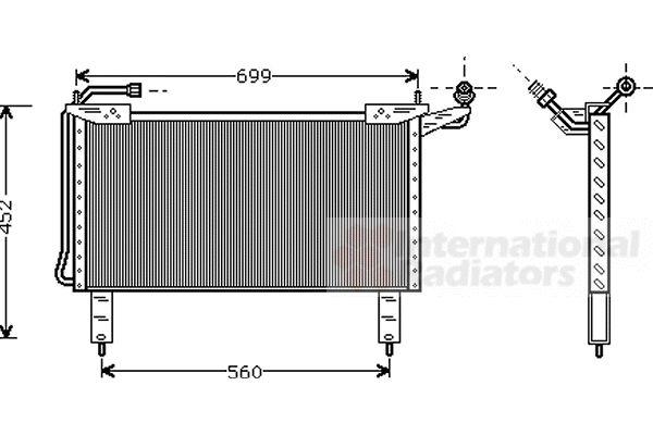 Condenseur, climatisation - VAN WEZEL - 77005017