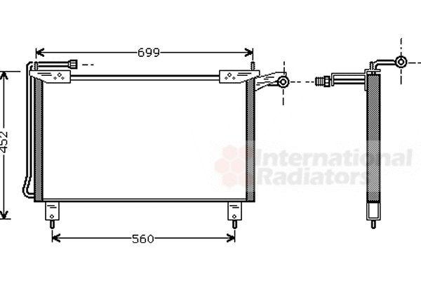 Condenseur, climatisation - VAN WEZEL - 77005019