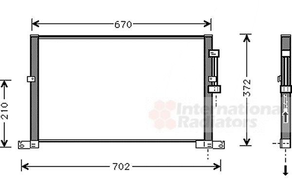 Condenseur, climatisation - VAN WEZEL - 77005032