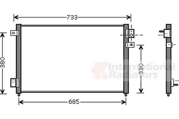 Condenseur, climatisation - VAN WEZEL - 77005036