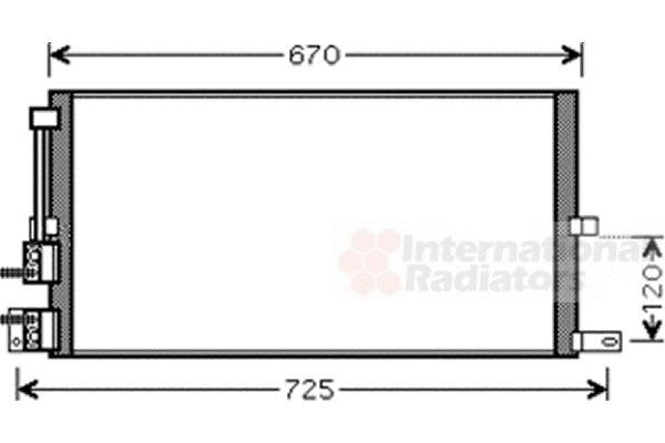 Condenseur, climatisation - VAN WEZEL - 77005043