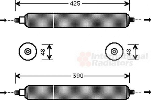 Filtre déshydratant, climatisation - VAN WEZEL - 7700D001