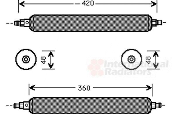 Filtre déshydratant, climatisation - VAN WEZEL - 7700D003