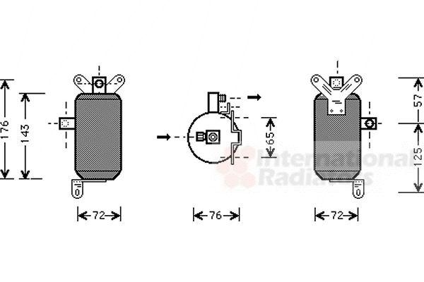 Filtre déshydratant, climatisation - VAN WEZEL - 7700D021
