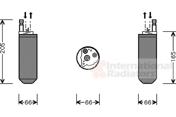 Filtre déshydratant, climatisation - VAN WEZEL - 7700D029