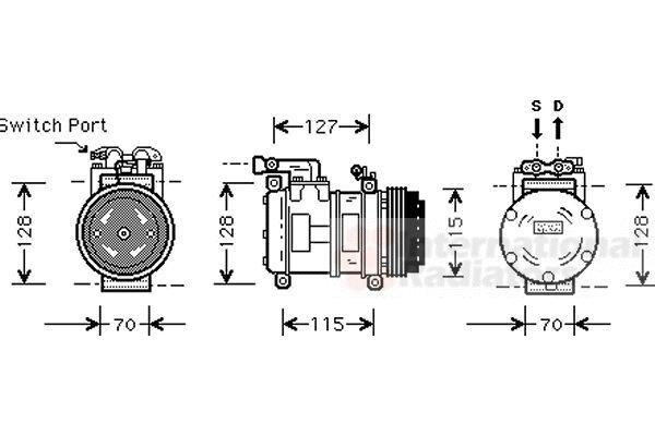 Compresseur, climatisation - VAN WEZEL - 7700K031